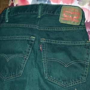 Green denim Levi skirt
